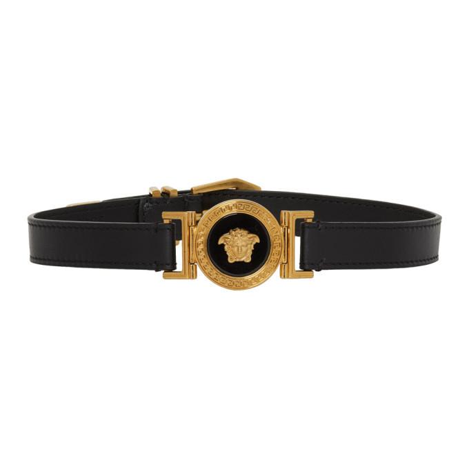 Photo: Versace Gold and Black Medusa Choker Necklace