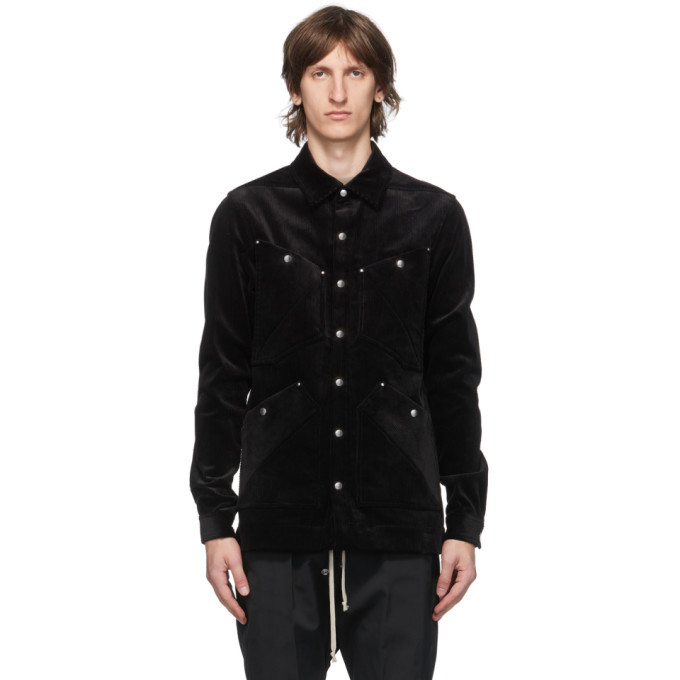 Photo: Rick Owens Black Four Pocket Outershirt Jacket