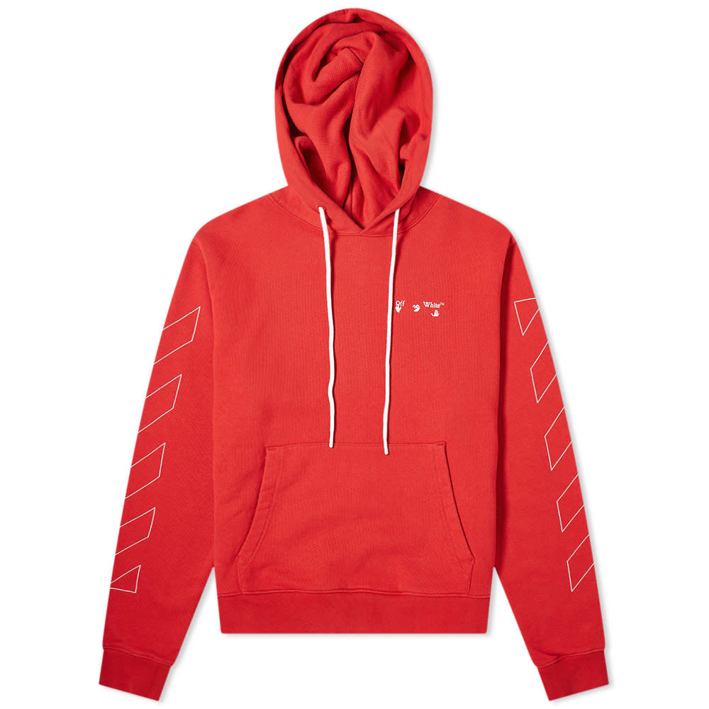Photo: Off-White Diagonal Logo Slim Popover Hoody