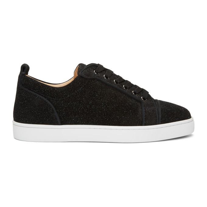 Photo: Christian Louboutin Black Louis Junior Orlata Sneakers