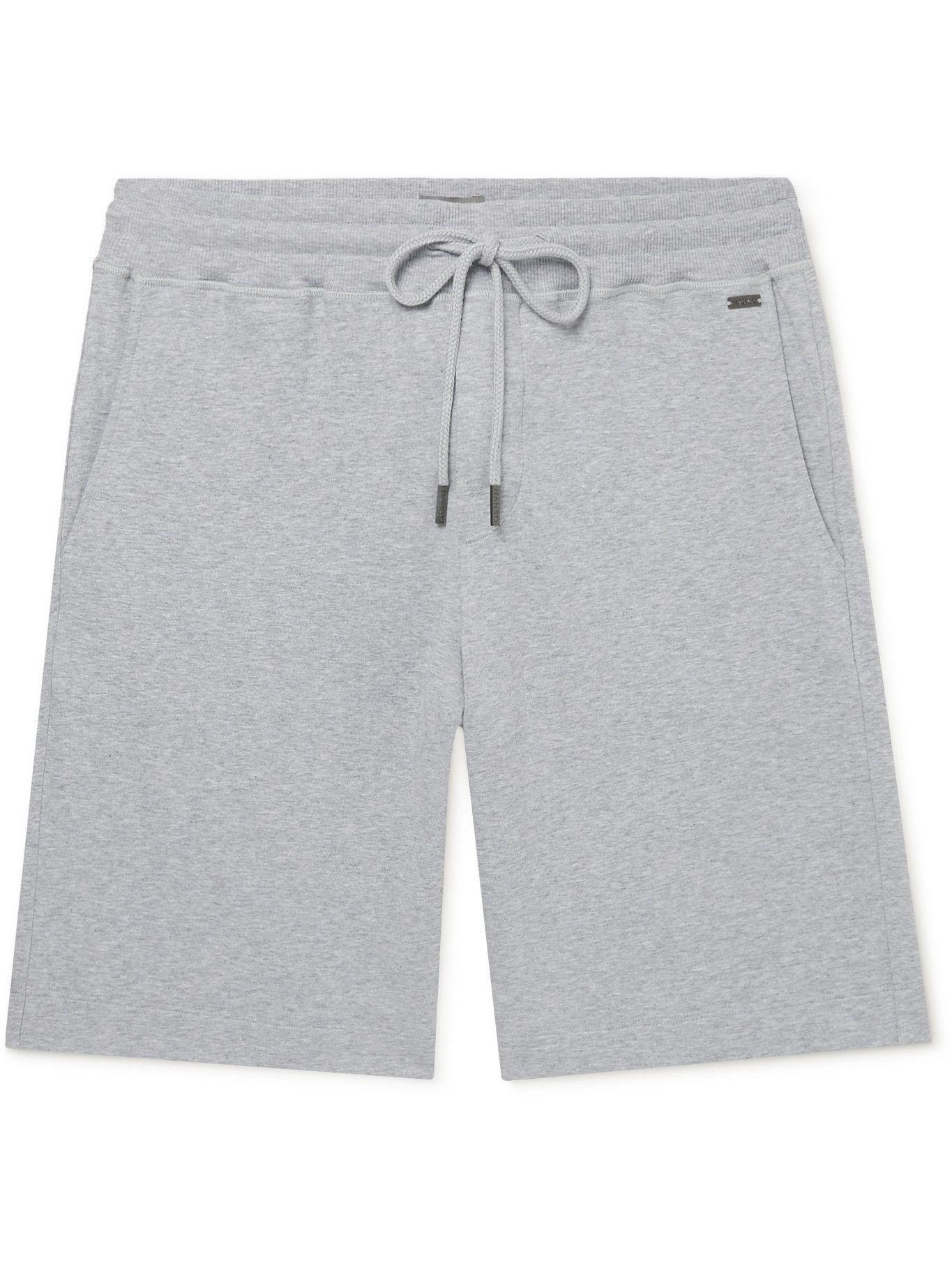 HANRO - Stretch-Cotton Jersey Shorts - Gray
