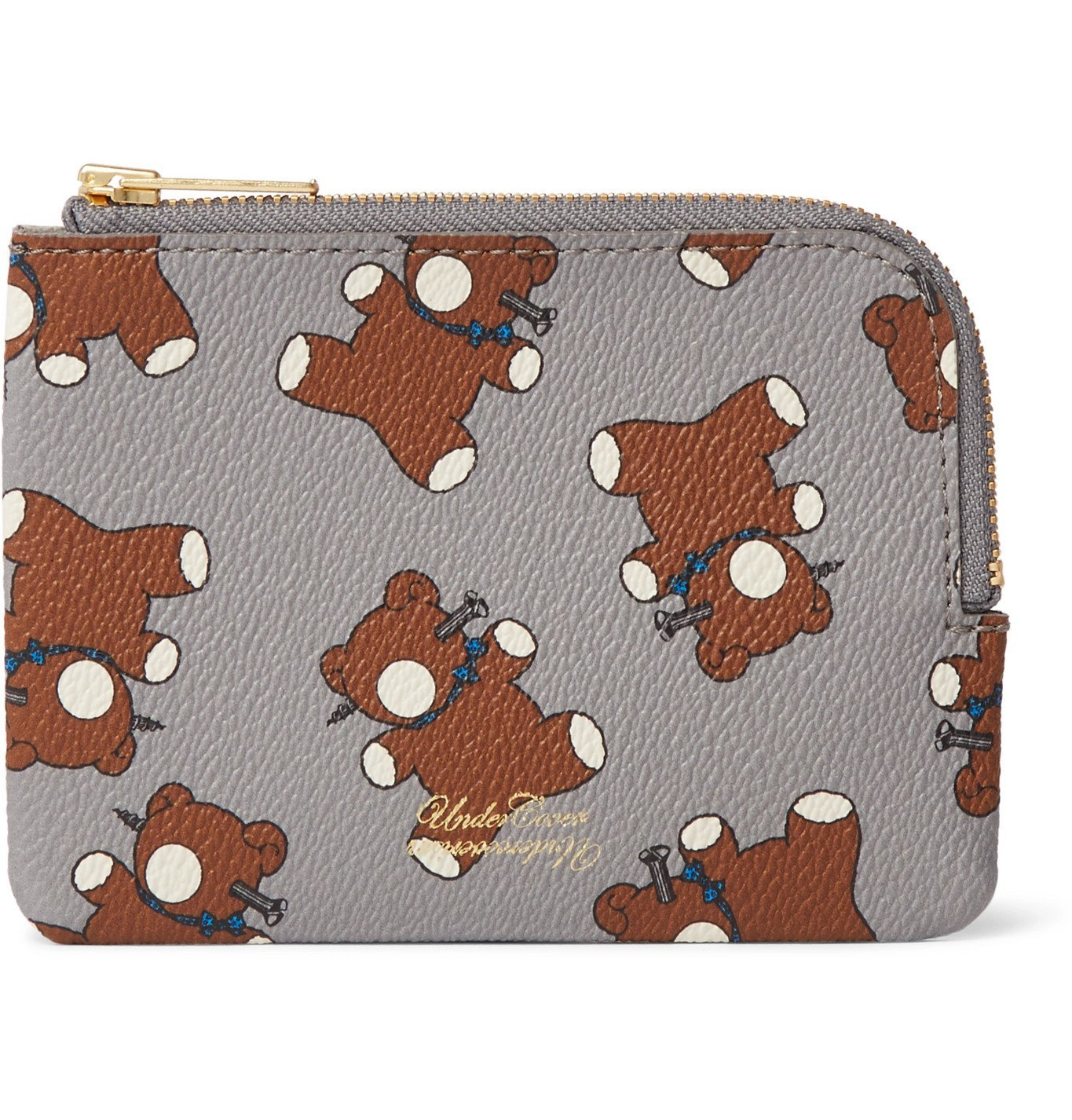 Photo: Undercover - Printed Faux Leather Wallet - Gray