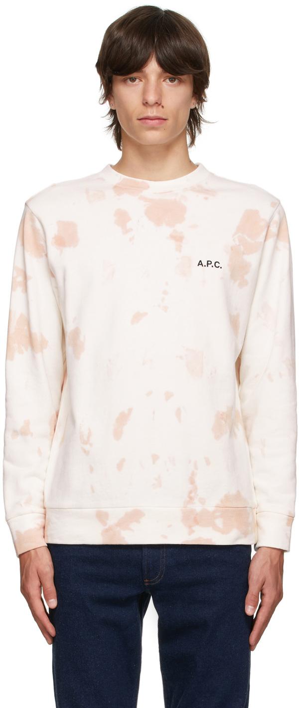 Photo: A.P.C. Off-White & Pink Tie-Dye Rick Sweatshirt