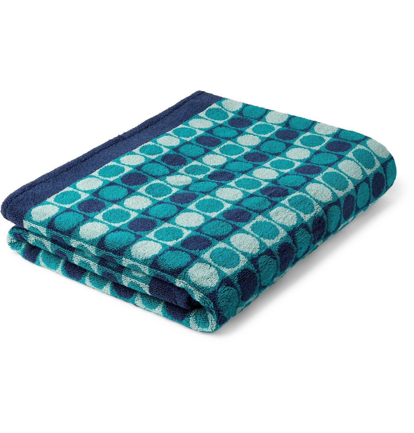 Photo: Cleverly Laundry - Cotton-Terry Jacquard Beach Towel - Blue