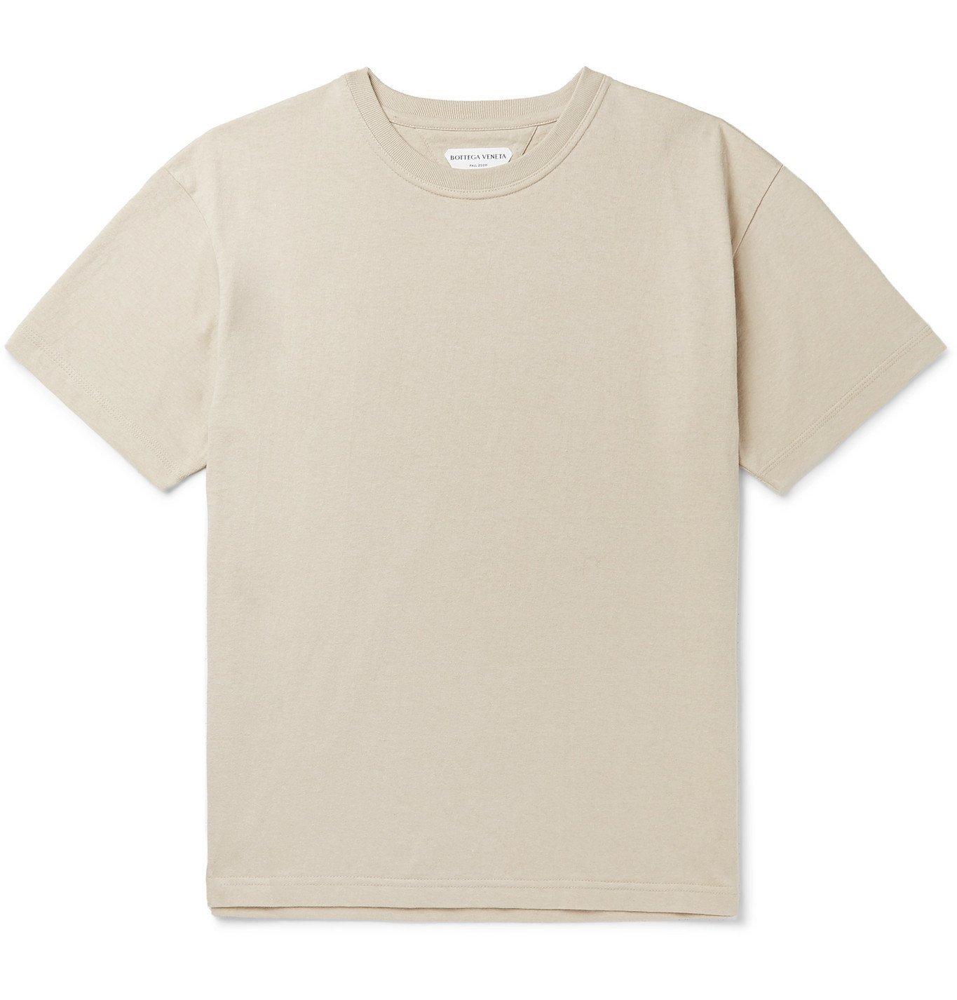 Photo: Bottega Veneta - Cotton-Jersey T-Shirt - Neutrals