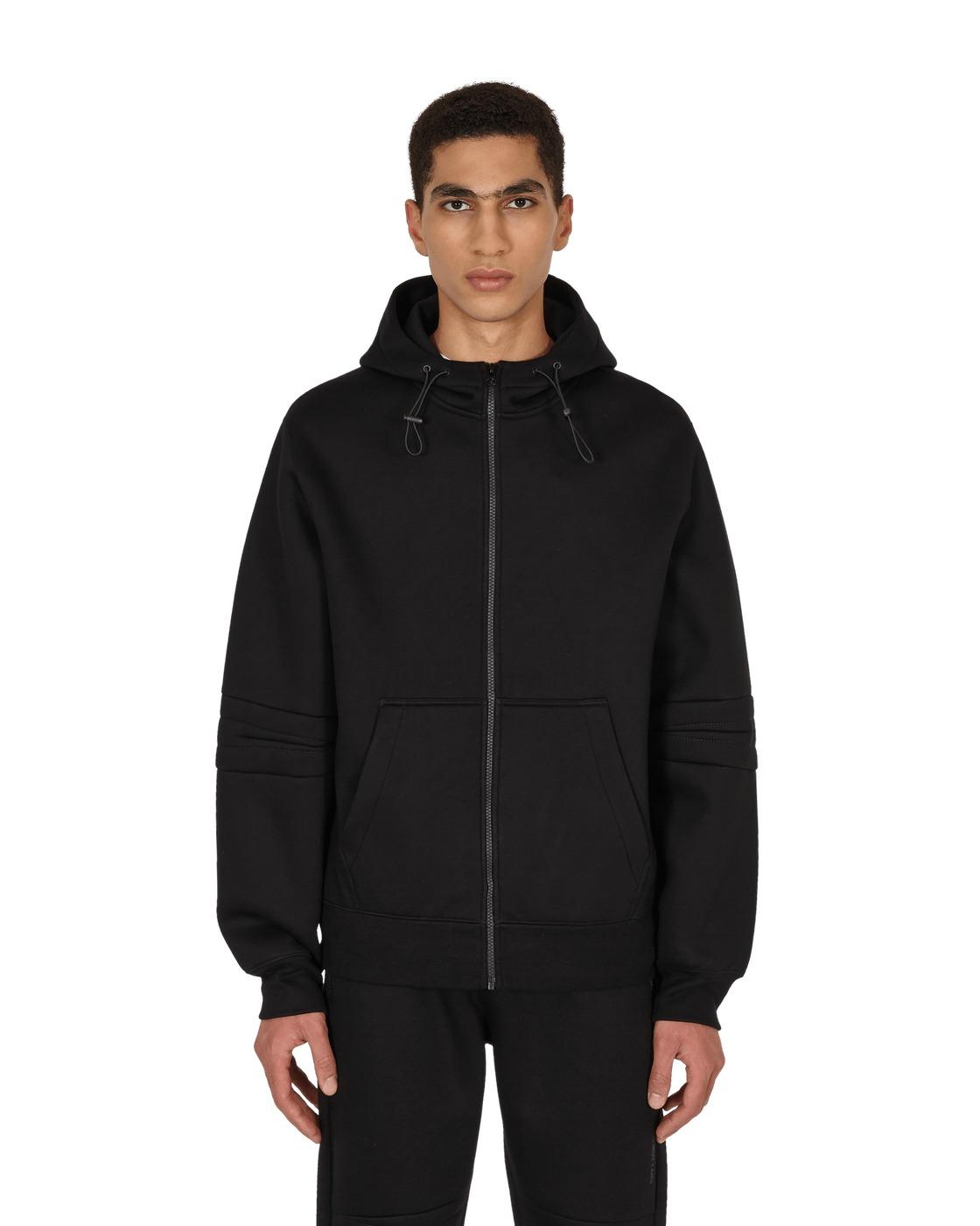 Photo: Helmut Lang Neoprene Zip Hooded Sweatshirt Black