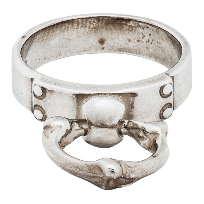 Photo: TAKAHIROMIYASHITA TheSoloist. Silver Bone Shaped Ring