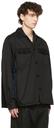 Sacai Black Chino & Grosgrain Shirt