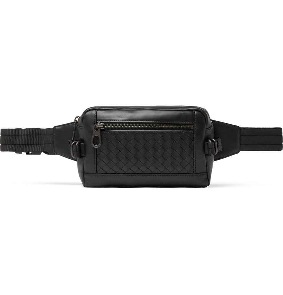 Bottega Veneta - Intrecciato Leather Belt Bag - Men - Black