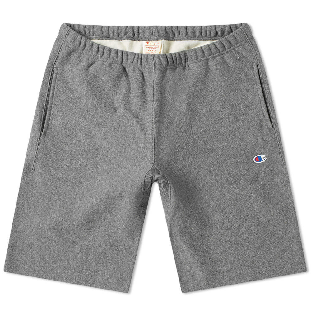 Champion Reverse Weave Sweat Short Dark Grey Marl