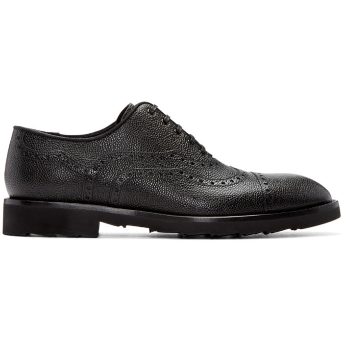 Photo: Dolce and Gabbana Black Sicilia Brogues