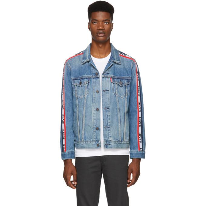 f91ea560cf97 Levis Blue Sportswear Trucker Denim Jacket Levis