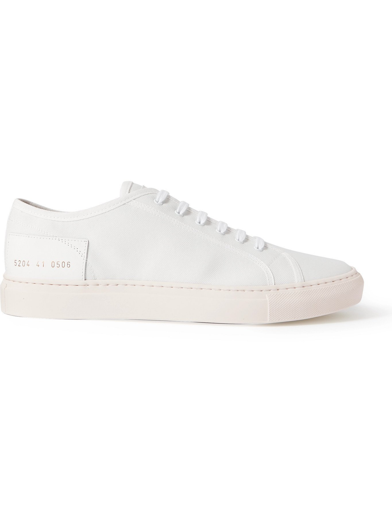 Photo: COMMON PROJECTS - Tournament Low Leather-Trimmed Nylon Sneakers - White