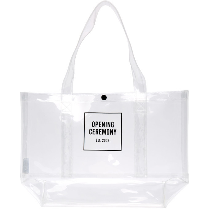 Photo: Opening Ceremony Transparent Medium Box Logo Tote
