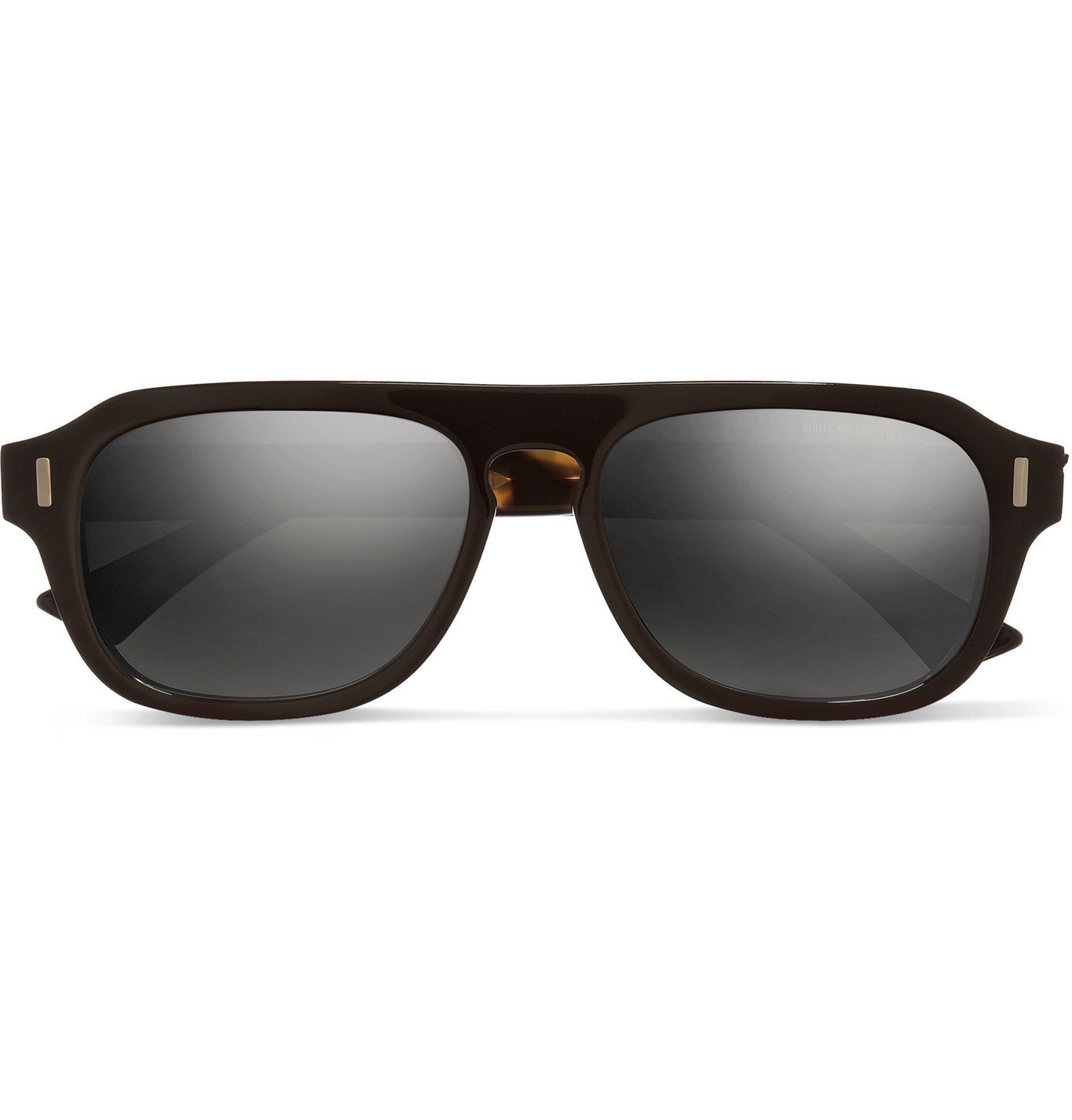 Photo: Cutler and Gross - D-Frame Acetate Sunglasses - Beige