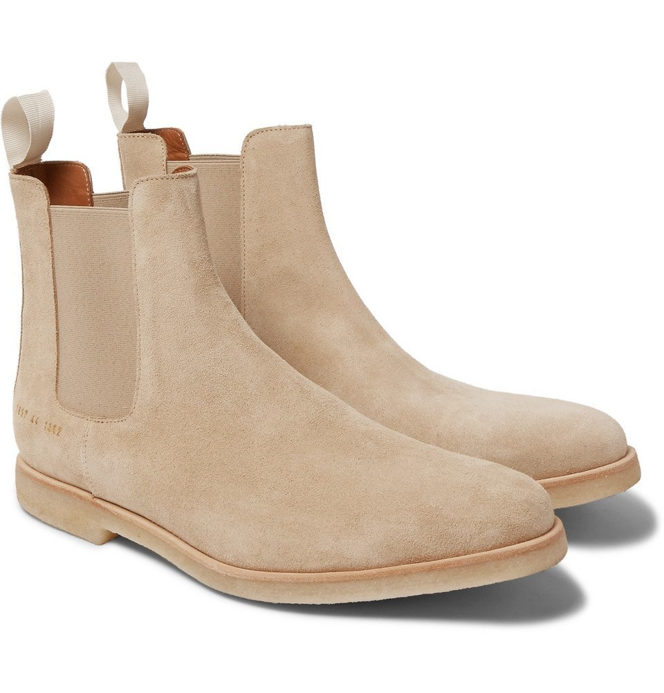 Photo: Common Projects - Suede Chelsea Boots - Men - Sand