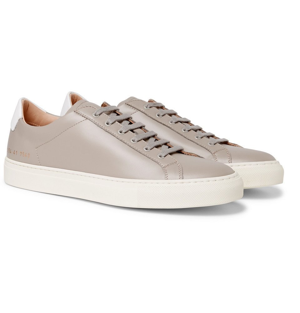 Common Projects - Achilles Retro Leather Sneakers - Men - Gray