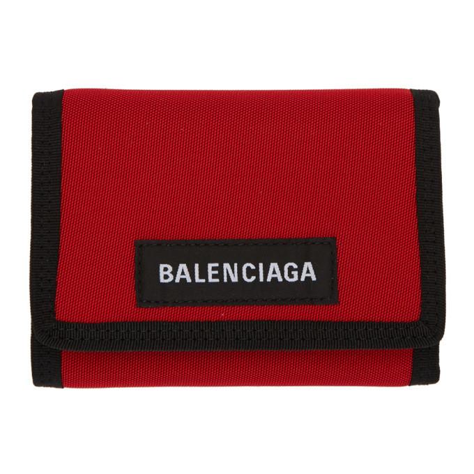 Photo: Balenciaga Red Explorer Wallet