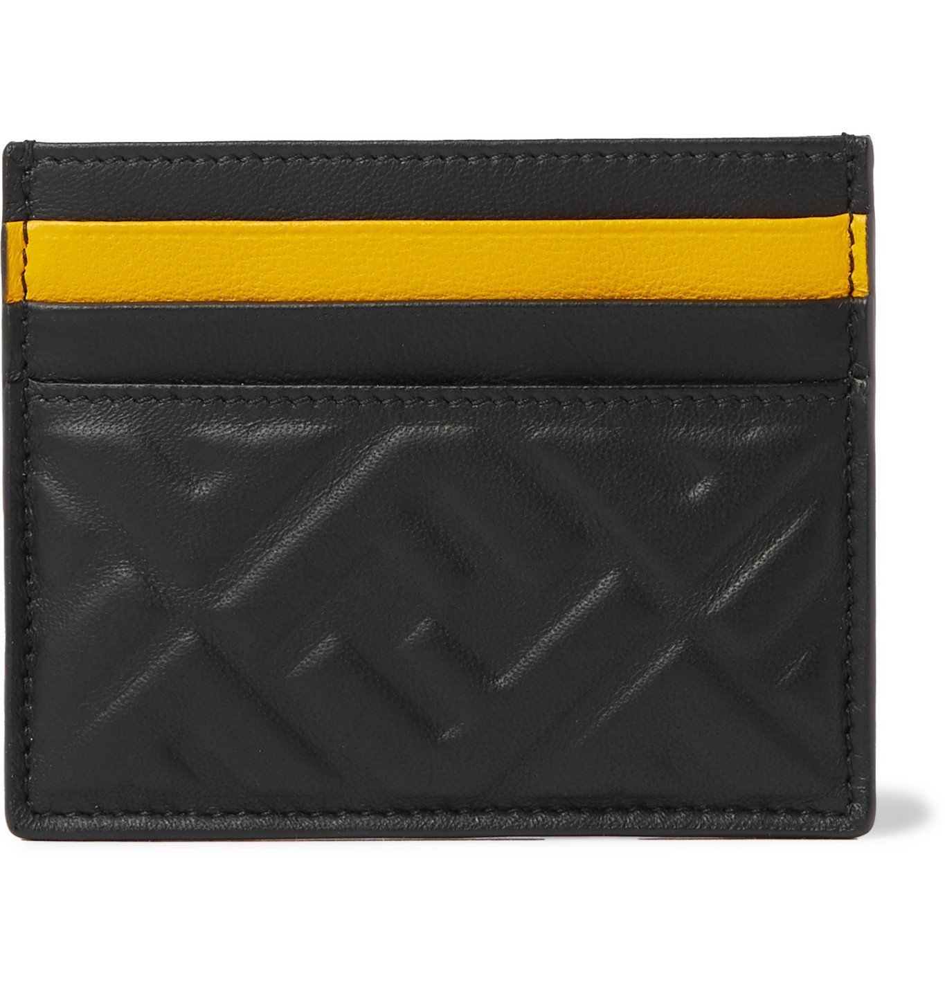 Photo: Fendi - Logo-Embossed Leather Cardholder - Black