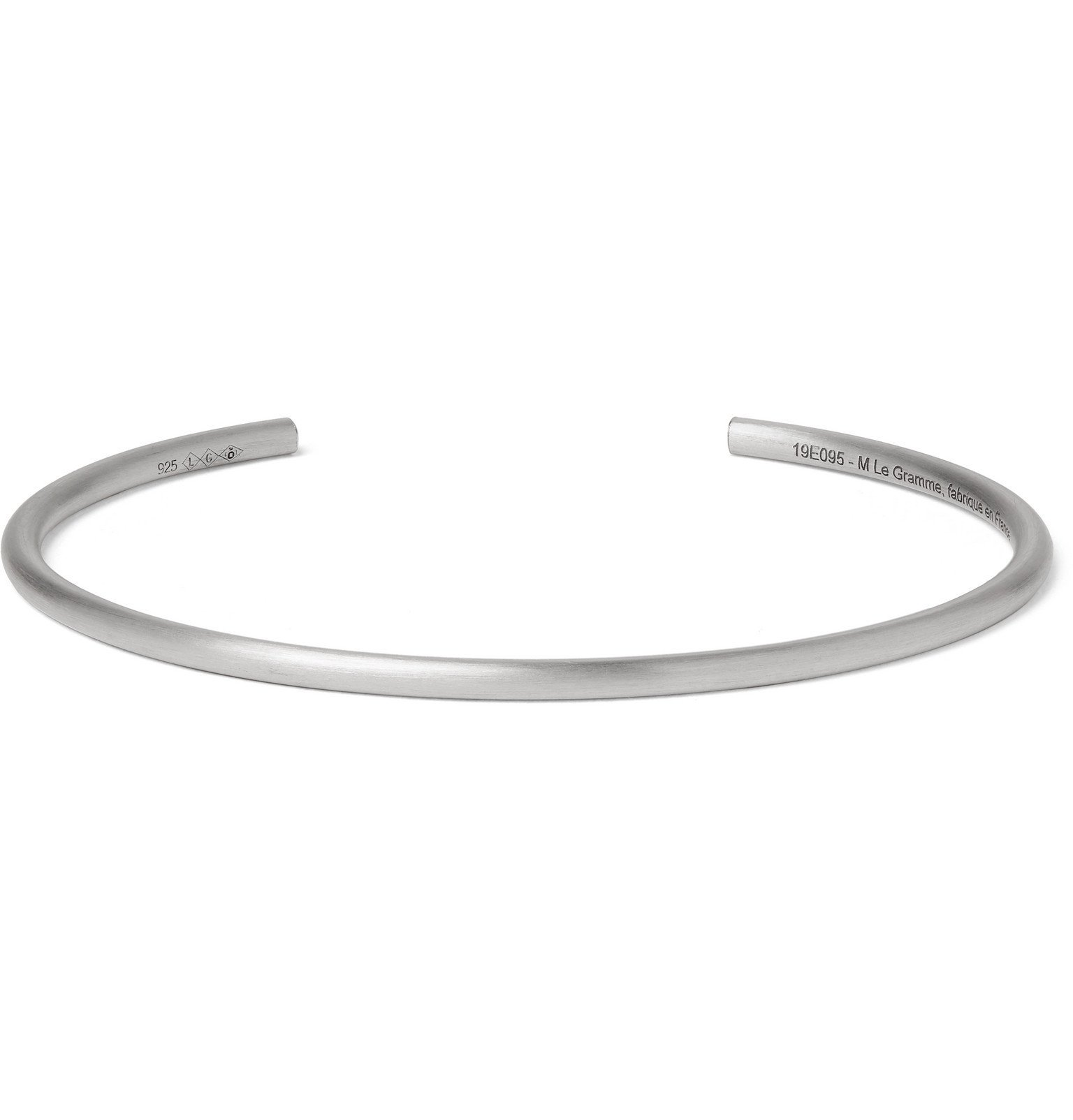 Photo: Le Gramme - Le 7 Brushed Sterling Silver Cuff - Silver