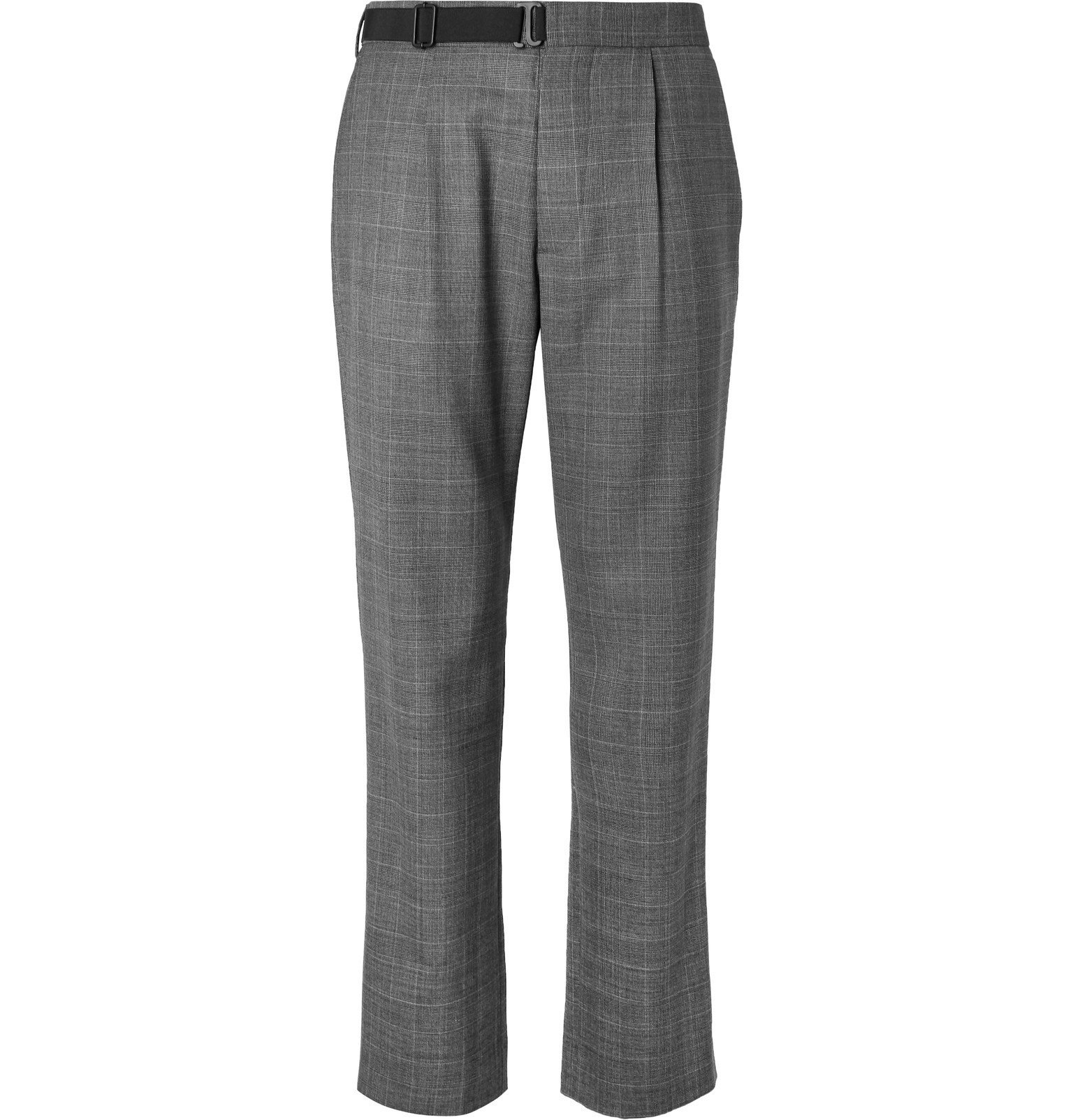 Photo: Maison Margiela - Pleated Checked Virgin Wool Trousers - Gray