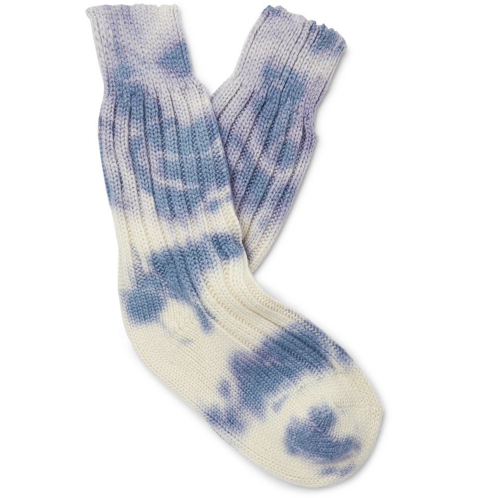 The Elder Statesman - Yosemite Tie-Dyed Cashmere Socks - Blue