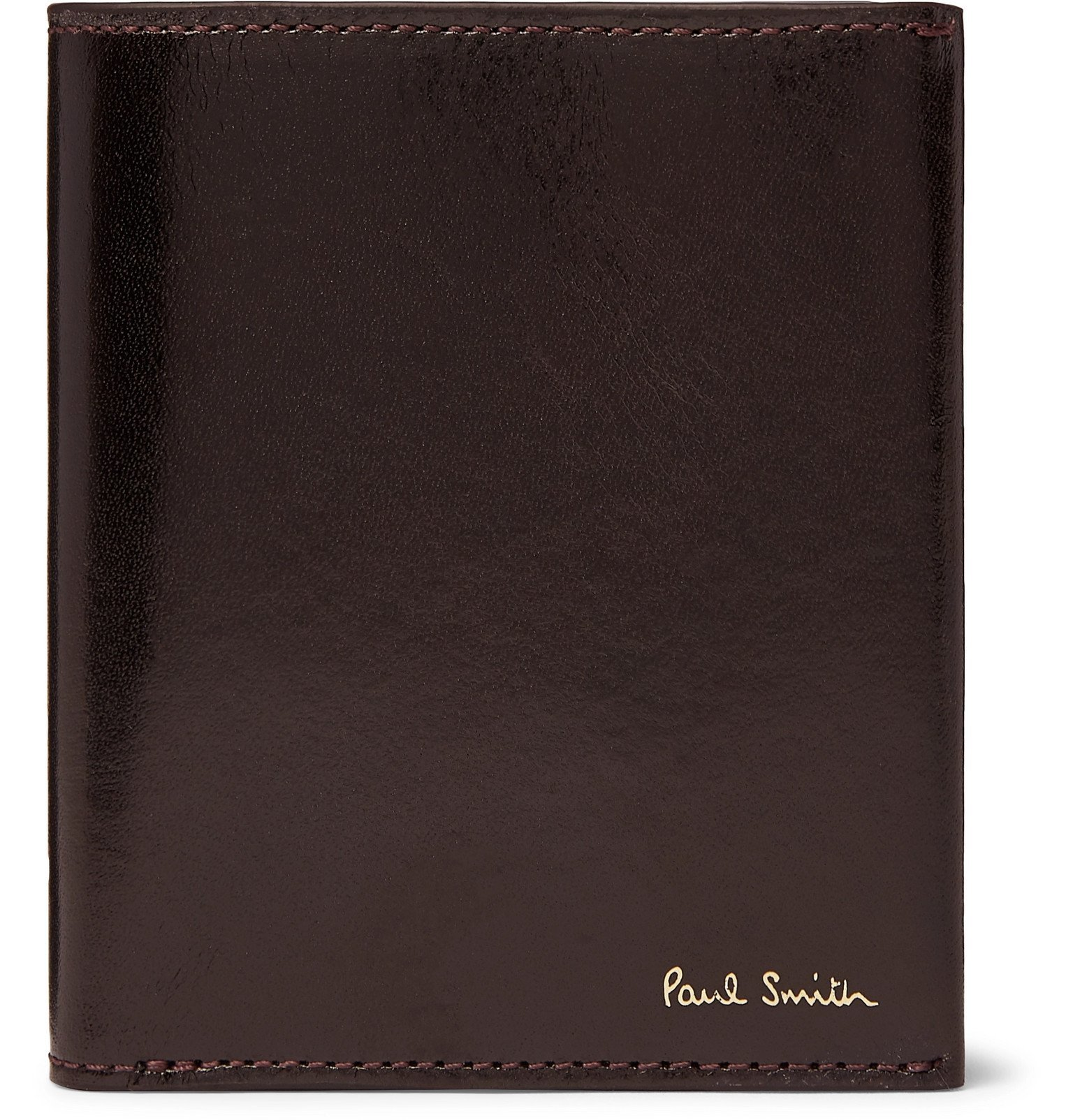 Photo: Paul Smith - Polished-Leather Billfold Wallet - Red