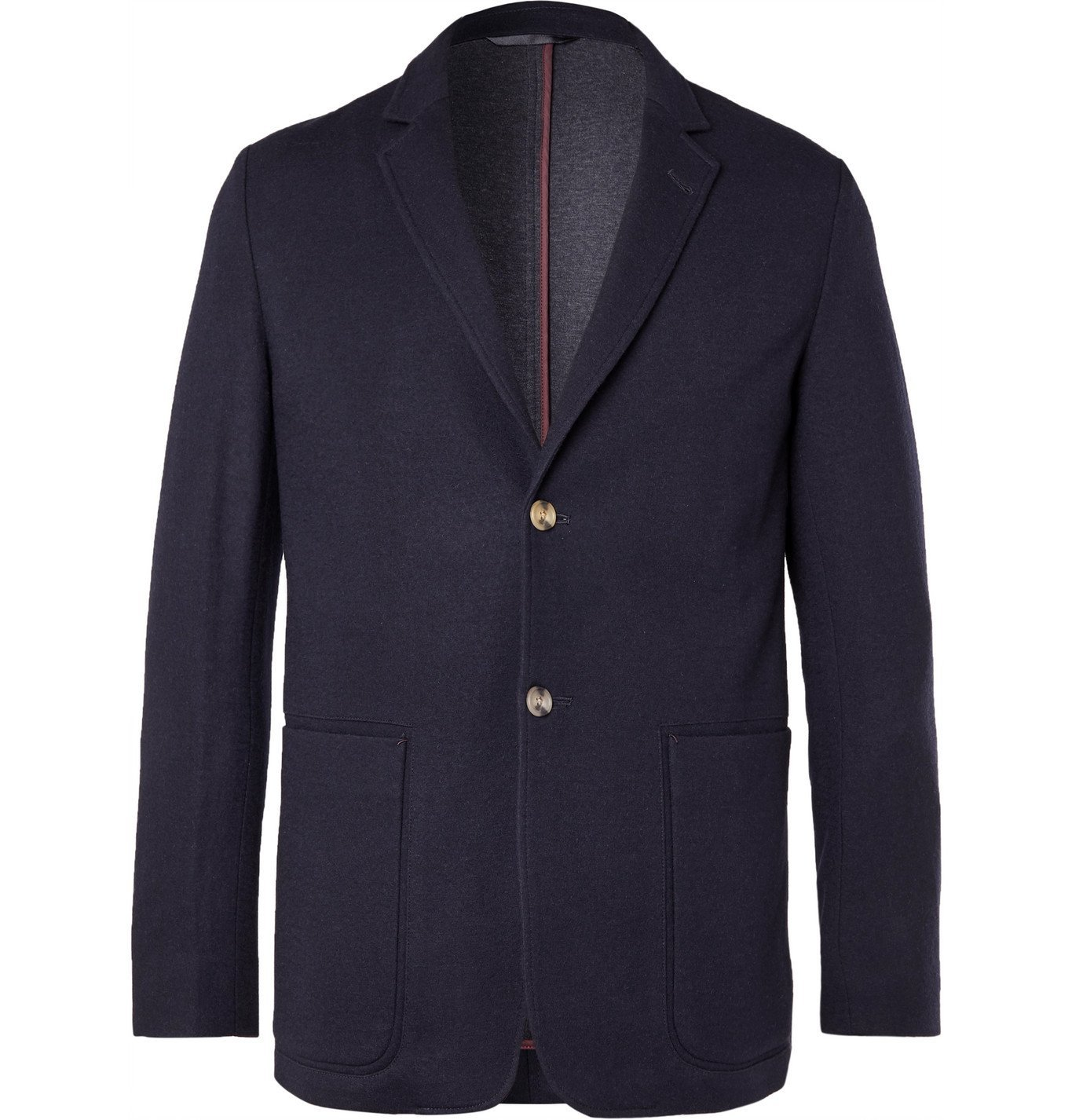 Photo: PAUL SMITH - Unstructured Wool, Cotton and Nylon-Blend Blazer - Blue