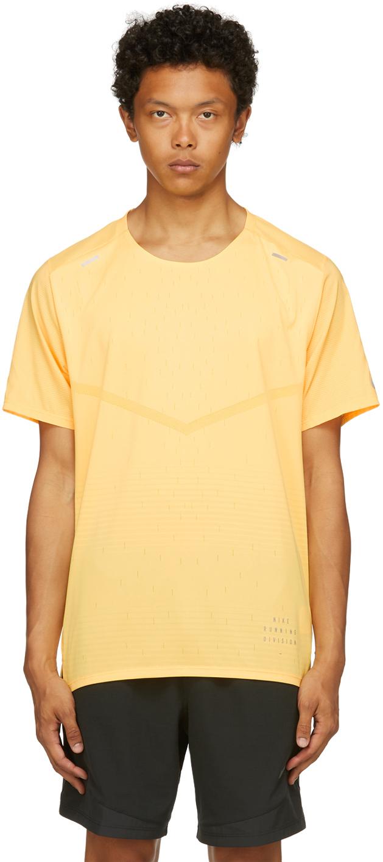 Photo: Nike Yellow Rise 365 Run Division T-Shirt