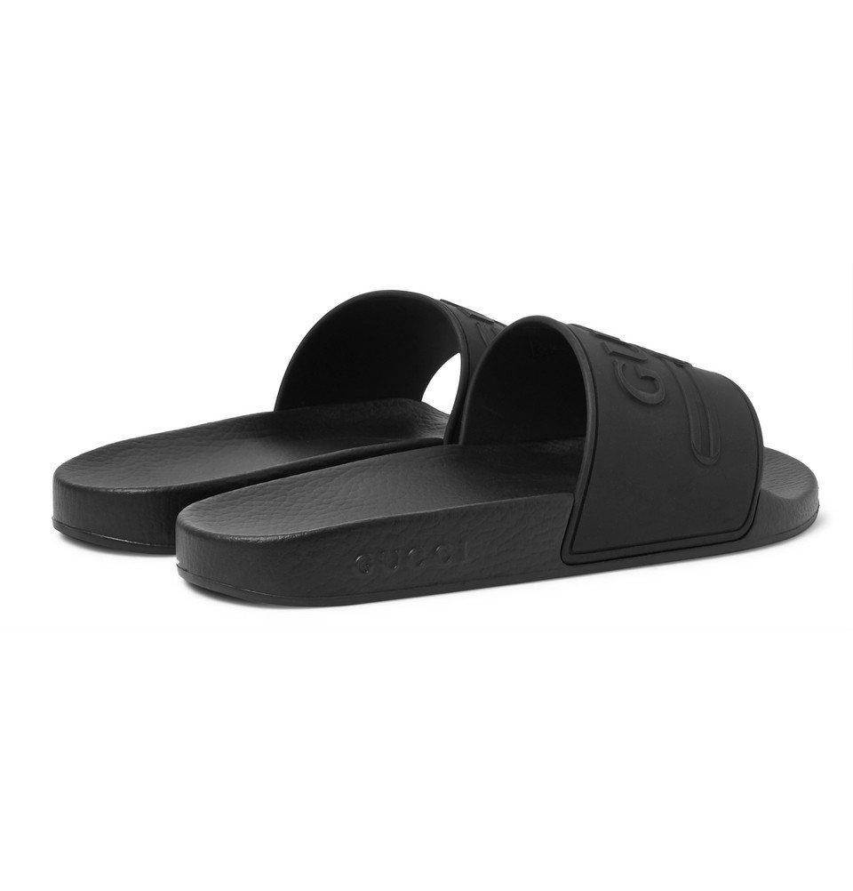 a18ff95be Gucci - Logo-Embossed Rubber Slides - Men - Black Gucci