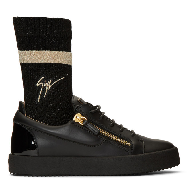 Photo: Giuseppe Zanotti Black May London Sock Sneakers
