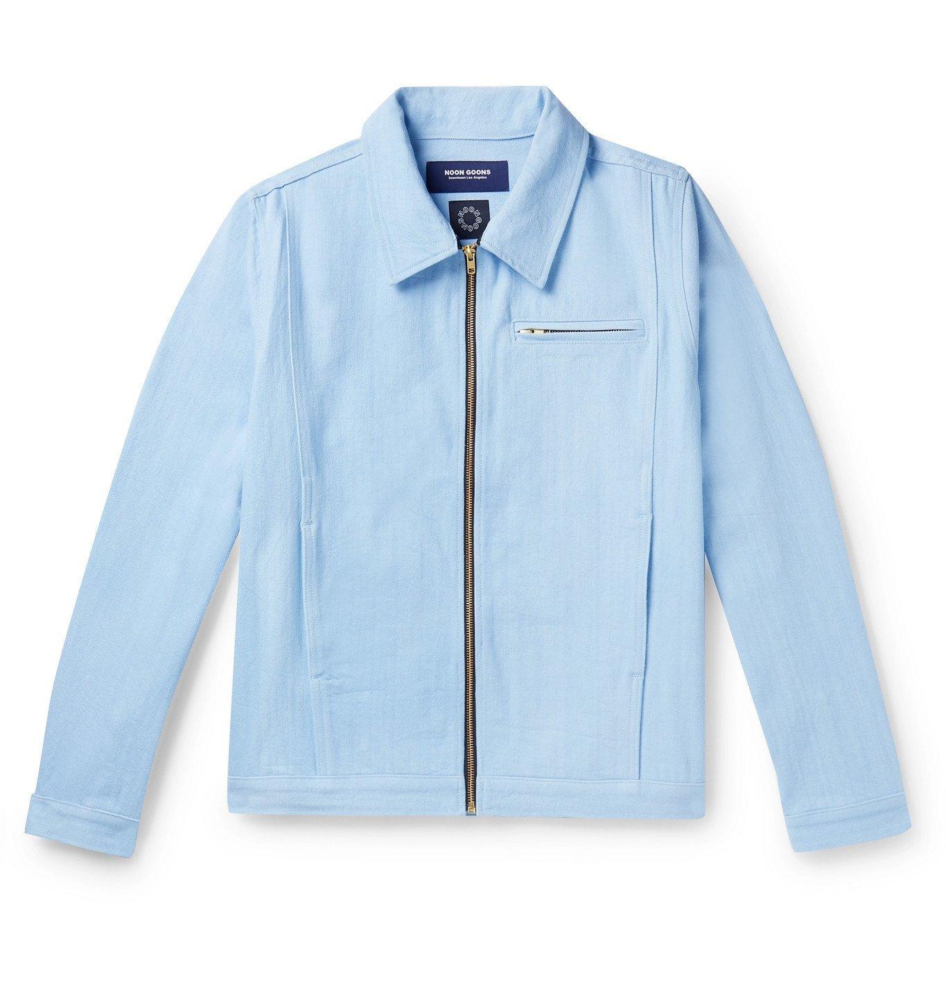Photo: Noon Goons - Glasser Oversized Garment-Dyed Denim Jacket - Blue