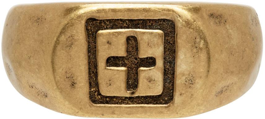 Photo: Ksubi Gold Dripps 1999 Signet Ring