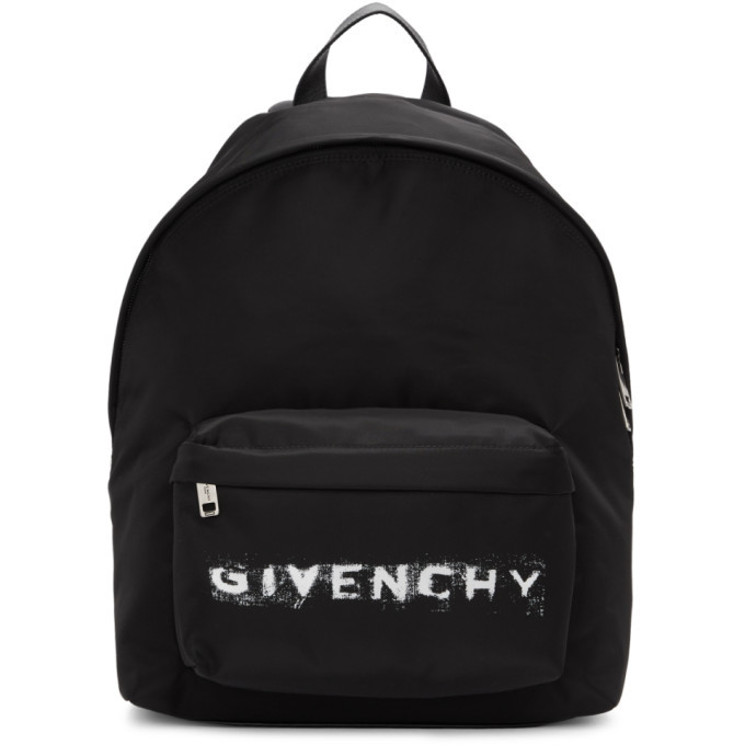 Photo: Givenchy Black Nylon Logo Backpack