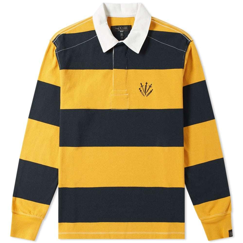 Photo: Rag & Bone Long Sleeve Striped Rugby Shirt