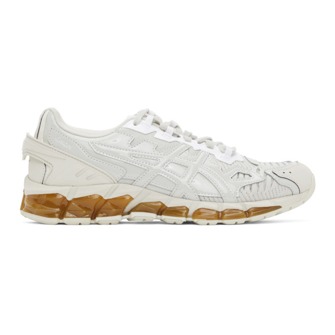 GmbH Off-White and Grey Asics Edition GEL-Quantum 360-6 Low-Top Sneakers