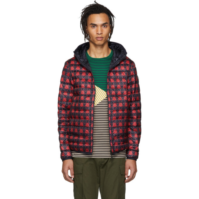 bdf374226 Moncler Reversible Navy and Red Down Oise Jacket Moncler