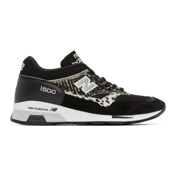 Photo: New Balance Black Animal Made In UK 1500 Sneakers