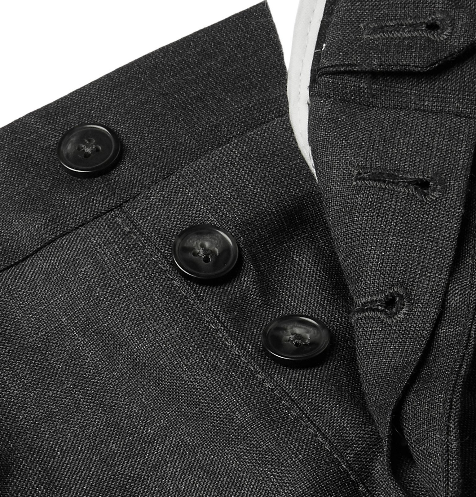 Officine Generale - Charcoal Slim-Fit Wool Suit Trousers - Gray