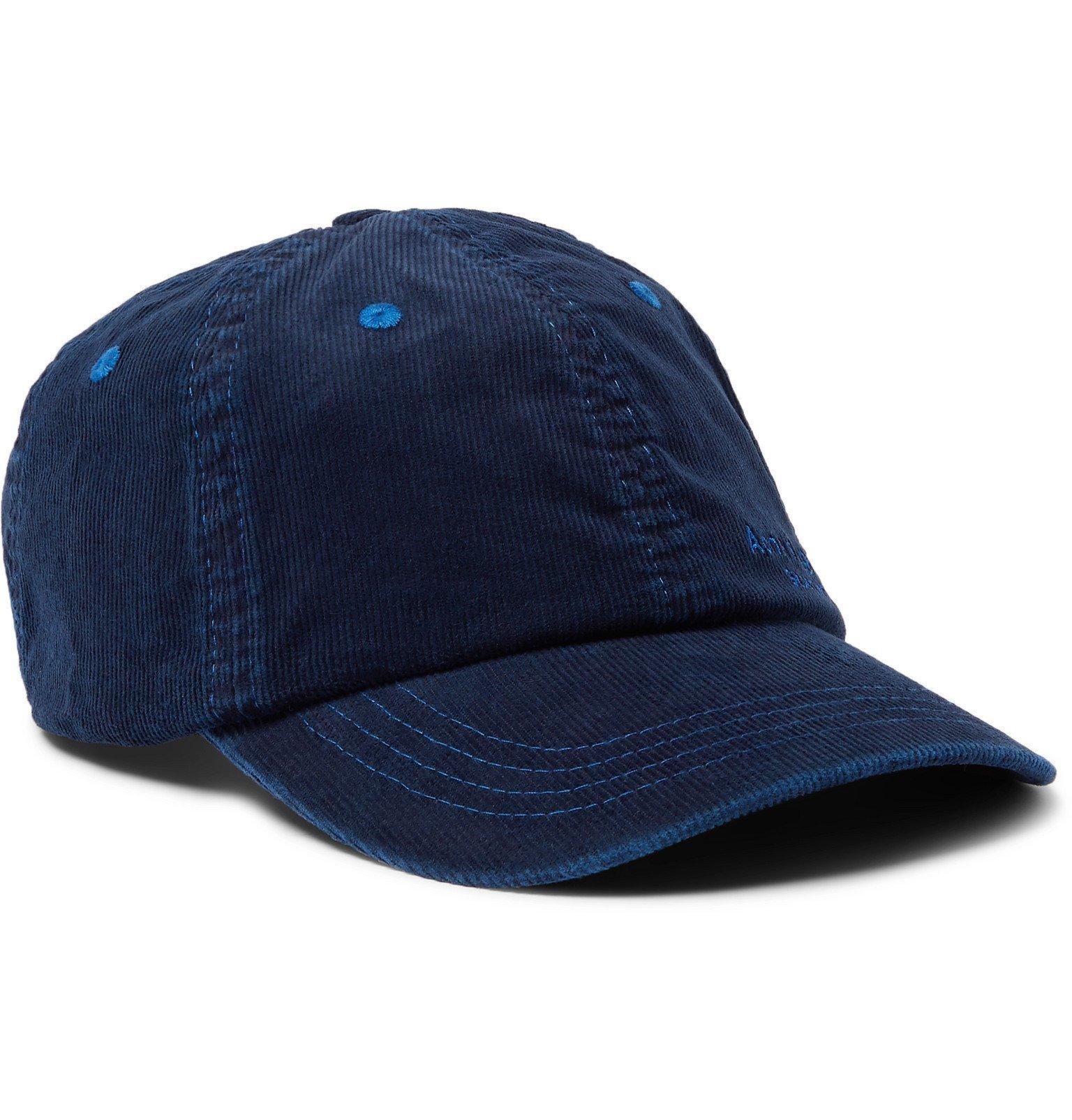 Photo: Acne Studios - Logo-Embroidered Cotton-Blend Corduroy Baseball Cap - Blue