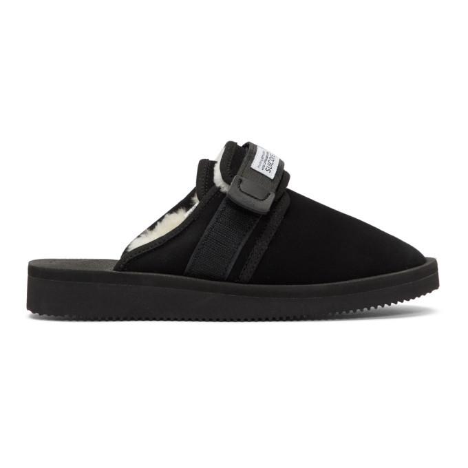 Photo: Suicoke Black Shearling Zavo-M Sandals