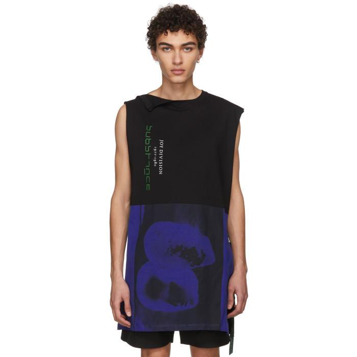 Raf Simons Black and Blue Joy Division Long T-Shirt