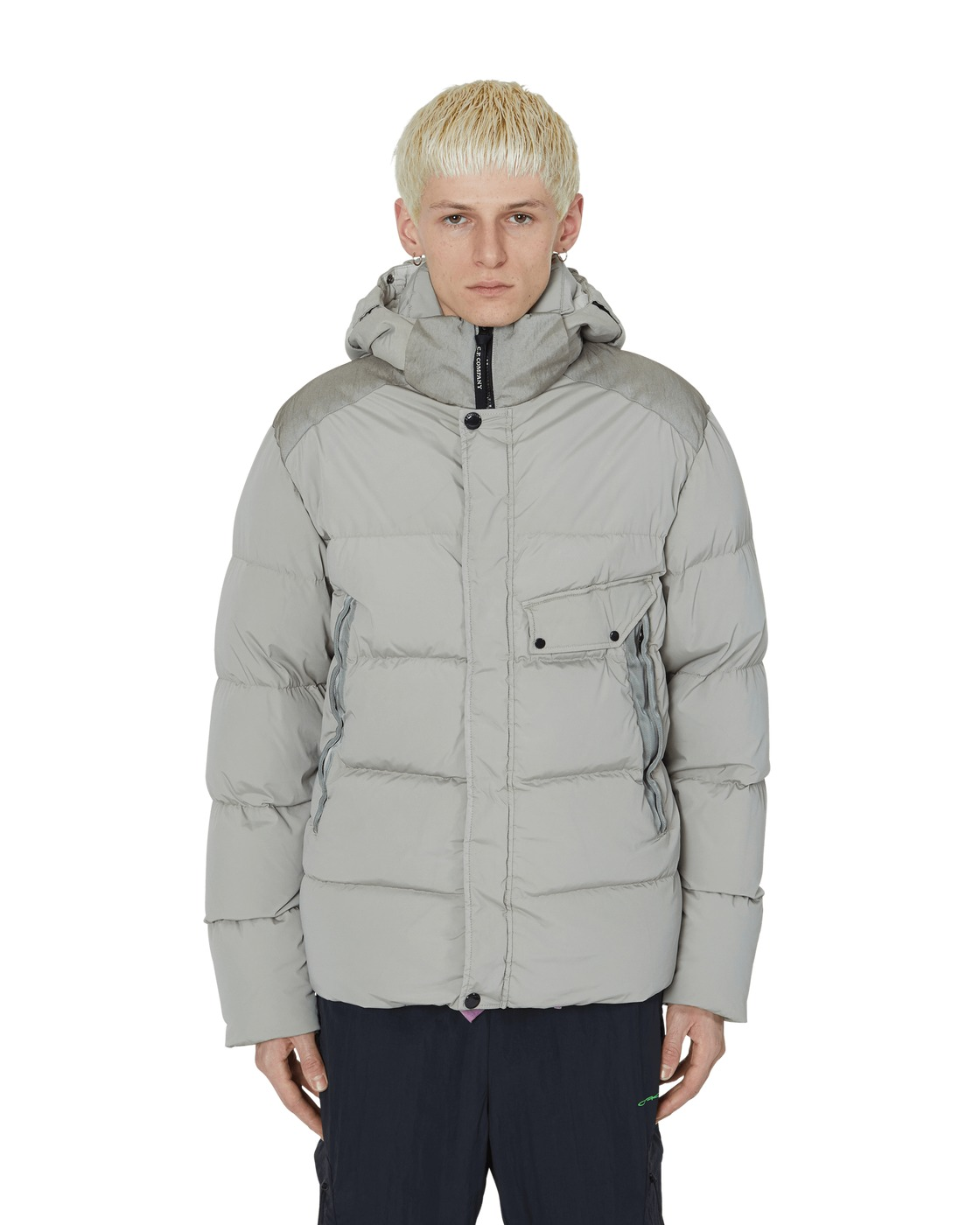 Photo: C.P. Company Goggle Down Jacket Grey