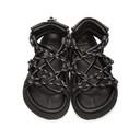 Sacai Black Double Lace-Up Sandals