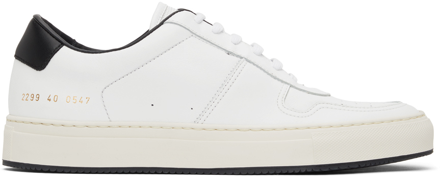 Photo: Common Projects White & Black BBall '90 Low Sneakers