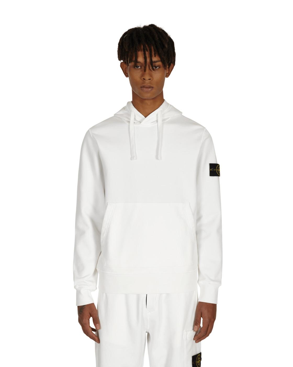 Stone Island Basic Hooded Sweatshirt White