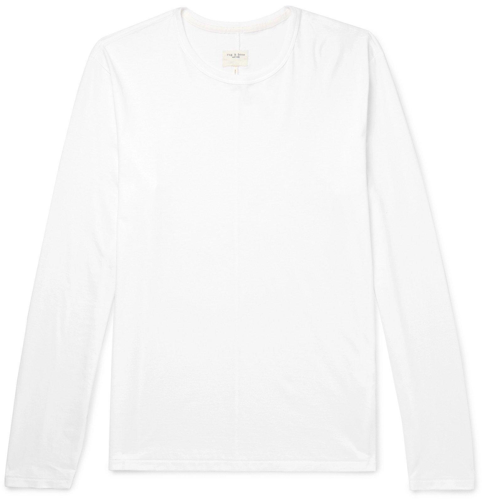 Photo: rag & bone - Cotton-Jersey T-Shirt - White