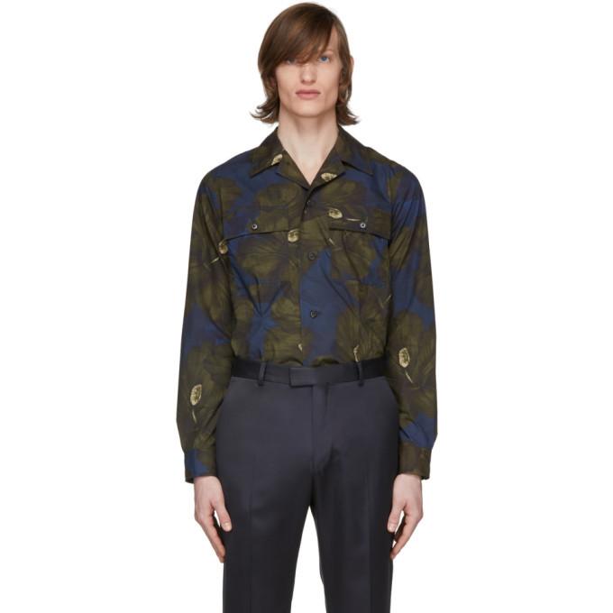 Photo: Dries Van Noten Khaki and Navy Floral Shirt