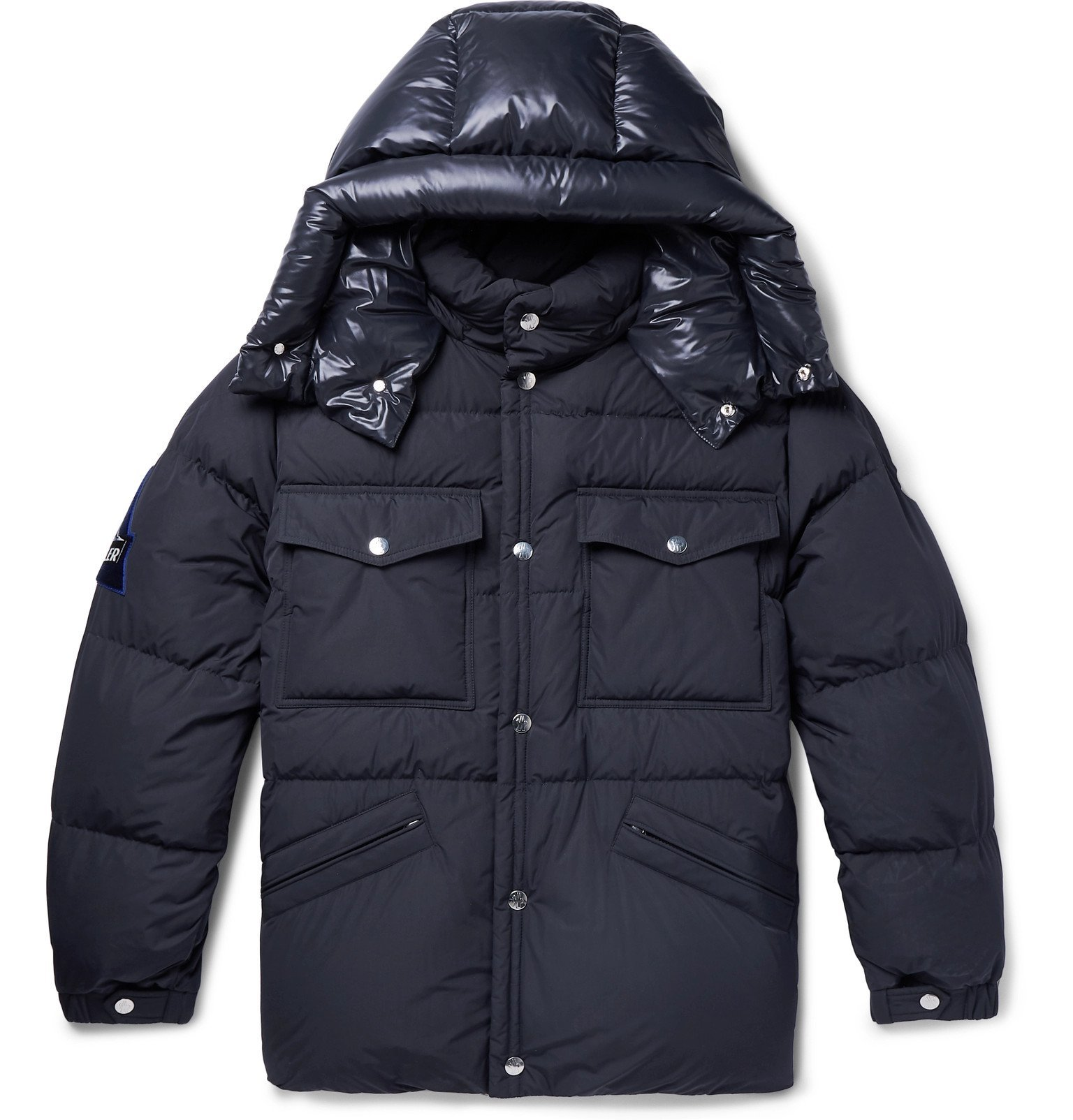 Photo: Moncler - Vilbert Slim-Fit Quilted Shell Hooded Down Jacket - Blue