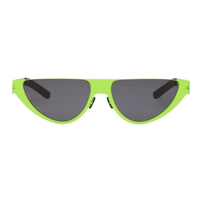 Martine Rose Green Mykita Edition Kitt Sunglasses